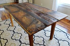 Rustic Farmhouse Dining Tables Wooden Table And Bench With Farmhouse Style Giving Rustic Idea To
