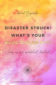 Free Download Spreadsheet Disaster Struck What U0027s Your Plan B Free Download The