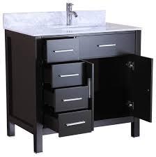 36 bathroom cabinet 36 belvedere bathroom vanity with marble top backsplash