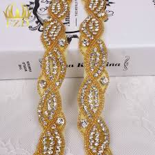 online buy wholesale gold stone trimming from china gold stone 10yards wholesale 1 yard sewing on stones beaded hotfix rhinestone and pearl applique trimming