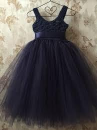 navy blue flower tutu dress with empire waist crochet tutu