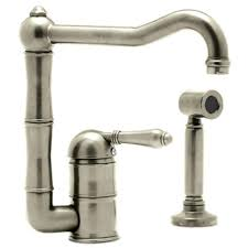 satin nickel kitchen faucets rohl side sprayer kitchen faucets kitchen the home depot
