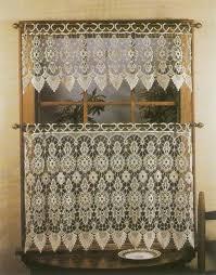Lace Curtains And Valances Macrame Medallion Lace Embroidered Curtains And Valances Sheer