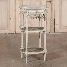 Neoclassical Decor 19th Century Neoclassical Painted Marble Top Table Inessa