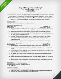 Sample Office Resume by Project Manager Resume Sample U0026 Writing Guide Rg