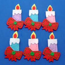 como hacer velas para navidad en fieltro adornos navidad