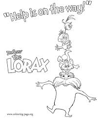 have fun coloring these characters from the film the lorax in