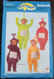 Infant Halloween Costume Patterns Teletubbies Halloween Costume Sewing Pattern Butterick 6292 Infant