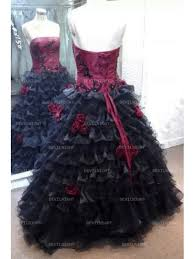 red and black rose accents gothic wedding dress devilnight co uk