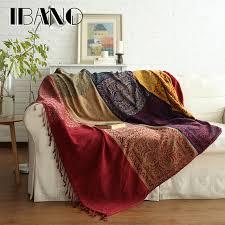 couverture canapé ibano bohème chenille plaids couverture canapé décoratif jette sur