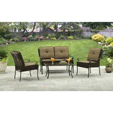 Conversation Patio Furniture Clearance by Better Homes And Gardens Bailey Ridge 4 Piece Aluminum