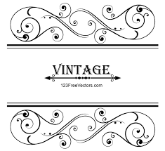 vector vintage floral ornamental frame design by 123freevectors on