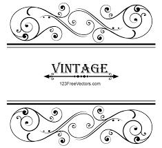 vector vintage floral ornamental frame design by 123freevectors on