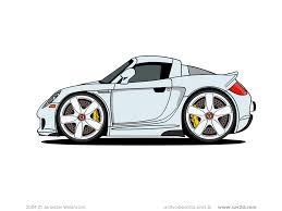 cartoon bugatti car illustrations