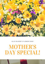 s day sale yellow flower sale s day flyer templates by canva