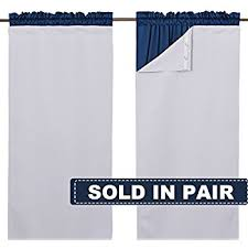 Blackout Curtains Liner Eclipse Thermaliner Blackout Panel Pair White Home