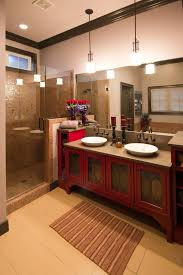 red kitchens red baths
