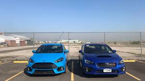 subaru sports car wrx ford focus rs vs subaru wrx sti a slightly biased one man