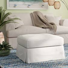 Slipcover Ottoman Rosecliff Heights Glenhill Cotton Ottoman Slipcover Reviews