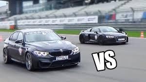 bmw vs audi race bmw m3 f80 manhart mh3 550 vs audi r8 v10 plus drag race