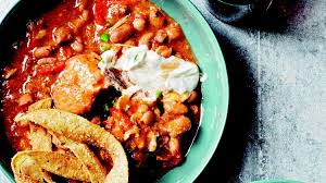 slow cooked tex mex chicken and beans