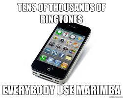 Meme Ringtones - tens of thousands of ringtones everybody use marimba iphone 4