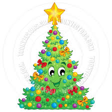 cartoon christmas decoration theme by clairev toon vectors eps