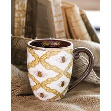 amazon com cypress home elegant u0026 bee utiful ceramic coffee mug