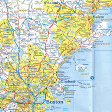 United States Map With Interstates by Eastern Massachusetts Paper Wall Map Jimapco