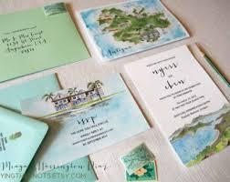 custom wedding invitation custom wedding invitations watercolor wedding suite pebble