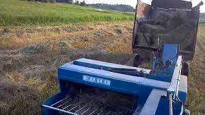 baling hay with ford 532 baler and ford 7000 youtube