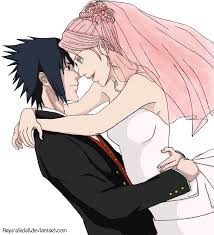 sasuke and sakura sasuke wedding day colored by destinyssky on deviantart