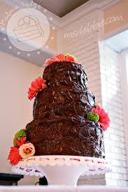 cake walk chocolate ganache wedding cake