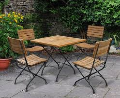 Garden Bistro Table Outdoor Square Bistro Table And 4 Chairs Patio Garden Bistro