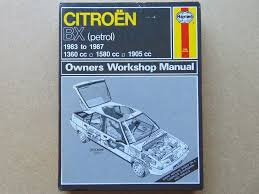 citroen bx haynes workshop manual petrol 1360cc 1580cc 1905cc