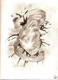 pencil sketch of heart heart tattoo designs pinterest hjärta