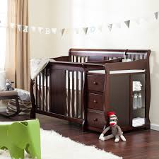 Espresso Baby Crib by Agreeable Dark Brown Varnished Wooden Material Crib Together With
