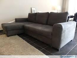 méridienne canapé canapé avec méridienne gris très bon état 3 à 4 places a vendre