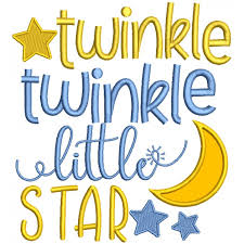 design embroidery twinkle little star children rhymes applique machine embroidery