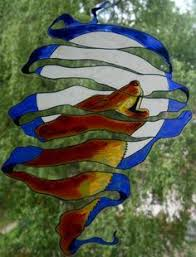 lonely blue delphi stained glass wolf stained glass exles