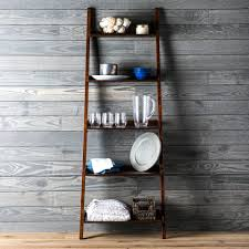 shop allen roth java 5 shelf bookcase at lowes com