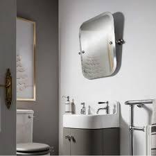 Bathroom Swivel Mirror Arcade Rectangular Swivel Mirror Chrome Finish