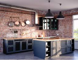 beautiful kitchens black kitchen interior with a touch of nature