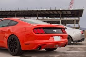 Black Mustang Red Stripes 2015 2017 Mustang Performance Parts