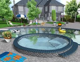 Landscape Design Backyard Ideas by Professional Landscaping Software Features