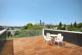 urban oasis rustic modern rooftop garden deck design green home