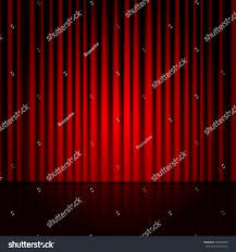 Maroon Curtains Vector Background Red Curtains Spotlight On Stock Vector 237868450