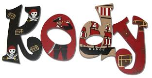 themed letters pirate theme name letters in black