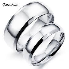 stainless steel wedding rings customerized engraved classic stainless steel wedding rings high
