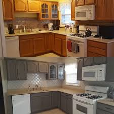 how to paint oak cabinets grey kitchen updates on a budget honey oak cabinets painted gray